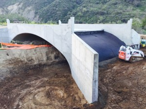 Shotcrete Arch After Pour